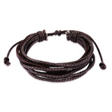 Genuine Cow Leather Milti-strand Bracelet-Brown