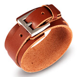 Genuine Leather Bracelet | Brown