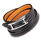 Genuine Leather Wrap Bracelet | Black