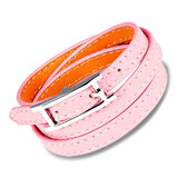 Genuine Leather Wrap Bracelet | Pink