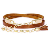 Genuine Cow Leather Skinny Waist Belt-Jasmine brown