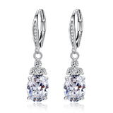 Premium Royal Drop Earrings - Clear