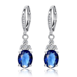 Premium Royal Drop Earrings - Royal Blue