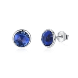 925 Sterling Silver Royal Blue Stud Earrings