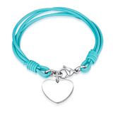 Genuine Cow Leather Heart Bracelet -GRN