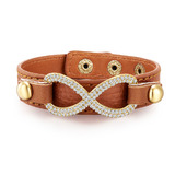 Genuine Cow Leather Infinite Bracelet -BRW