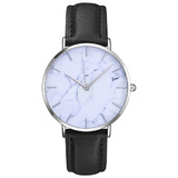 Elegant Watch - Silver / Marble Face - 39mm