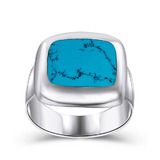Solid 925 Sterling Slvr Ring -Turquoise