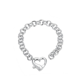 Heart Bracelet with Heart Clasp