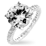 925 Silver Wedding/Engagement Ring wPave