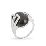 Black Onyx ring w White Gold
