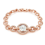 Linked Bracelet Ft Swarovski Crystals -Rose Gold