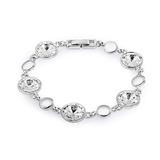5 Setting Bracelet Embellished with Crystals from Swarovski