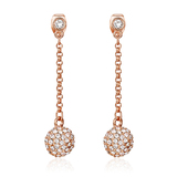 Drop Earrings Embellished with Crystals from Swarovski -Rose Gold