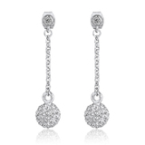 Drop Earrings Embellished with Crystals from Swarovski