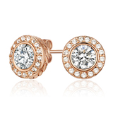 Earrings Embellished with Crystals from Swarovski -Rose Gold