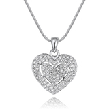 Deluxe Heart Necklace Embellished with Crystals from Swarovski