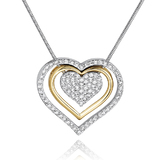 Inne Heart Necklace Embellished with Crystals from Swarovski