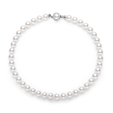 16inch Pearl Necklace Ft 10mm Swarovski Pearls