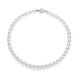 18inch Pearl Necklace Ft 10mm Swarovski Pearls