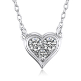Triple Heart Pendant Necklace Embellished with Crystals from Swarovski
