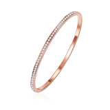 Encrusted Bangle-Rose gold Ft Swarovski Crystals