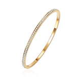Encrusted Bangle-Gold plated Ft Swarovski Crystals