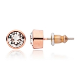 Rose Gold Stud Earrings Ft Swarovski Crystals