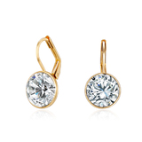 Drop Earrings Gold plated Ft Swarovski Elements