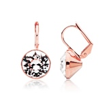 Drop Earrings Rose Gold plated Ft Swarovski Crystals
