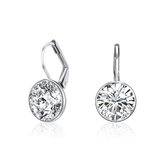 Drop Earrings White gold plated Ft Swarovski Elements