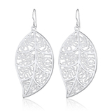 925 Silver Designer leaf earrings