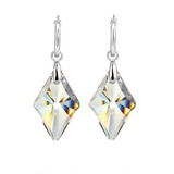 Deluxe Drop Earrings Embellished with Crystals from Swarovski