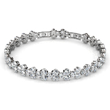 Deluxe 7.9ct Tennis Bracelet Embellished with Crystals from Swarovski