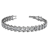 Black Label Tennis Bracelet Embellished with Crystals from Swarovski