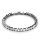 Classic Tennis Bracelet Embellished with Crystals from Swarovski