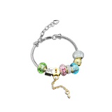 Bella Charm Bracelet Set Embellished with Crystals from Swarovski