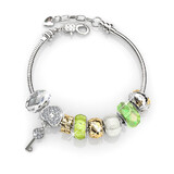 Empowered Charm Bracelet Set Embellished with Crystals from Swarovski