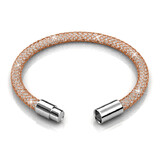 Mesh Single Wrap Bracelet Embellished with Crystals from Swarovski -Pink Fire
