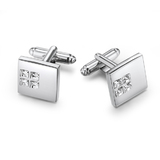 Quad Cufflinks Embellished with Crystals from Swarovski