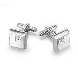 Squared Cufflinks Embellished with Crystals from Swarovski