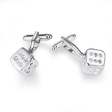 Dice Cufflinks Embellished with Crystals from Swarovski