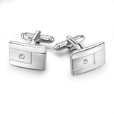 Single II Cufflinks Embellished with Crystals from Swarovski