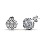 Shimmering Studs Embellished with Crystals from Swarovski