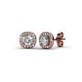 Luxor Stud Earrings Embellished with Crystals from Swarovski -RG
