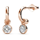Classic Earrings Embellished with Crystals from Swarovski -RG