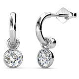 Classic Earrings Embellished with Crystals from Swarovski -WG