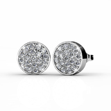 Pave Earrings Embellished with Crystals from Swarovski