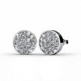 Pave Earrings Ft Swarovski Crystals