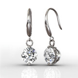 Arista Drop Earrings Embellished with Crystals from Swarovski